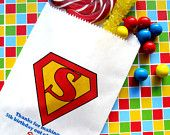 Superhero Candy Bags, Superhero Favor bags, Candy Buffet, Birthday party, Sweets, Treats,Set of 24