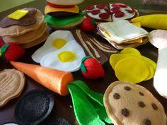 Deluxe Felt Food Set - Felt Play Food Bundle. $85.00, via Etsy.  Mindy's offering a Thanksgiving weekend special!