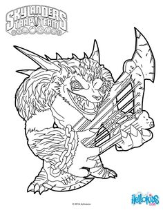 Wolfgang Coloring Page From Skylanders Trap Team Video Game More Sheets On Hellokids