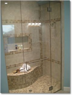 Tiled Shower Seat/Bench Made from Cement Mortar | Tile Your World ...
