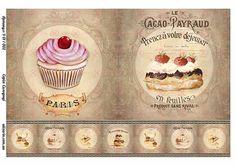 Картинки для декупажа с сладостями 9011002