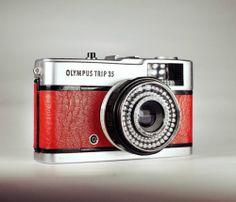 Olympus Trip 35 / Red Skin / Vintage 35mm film / LightBurn Restored Camera / 40mm f2.8 Lens / £39.99
