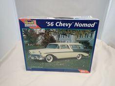1956 56 CHEVY NOMAD REVELL 1:25 SCALE SKILL 2 VINTAGE PLASTIC MODEL KIT #85-2489 #Revell Plastic Model Kits, Plastic Models, Revell Model Kits, Chevy Nomad, Scale, Monogram, Ebay, Vintage, Weighing Scale