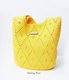 Most up-to-date Pictures Crochet Bag yellow Ideas Crochet handbag Bag & Purses Handbags Shoulder Bag Yellow Colour Spring/Summer Crochet Handbag Hand Crochet Handbags, Crochet Purses, Crochet Bags, Mercerized Cotton Yarn, Summer Bags, Spring Summer, Summer Wear, Cheap Bags, Knitted Bags