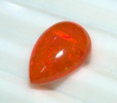 Äthiopischer Opal Birne Cabochon AAA Qualität Orange Opal Schmuck machen...