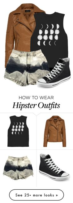 """""""Moon and Mountain"""" by sisixx27 on Polyvore featuring Converse, women's clothing, women's fashion, women, female, woman, misses and juniors"""