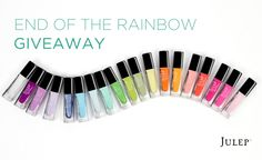 End of the Rainbow giveaway -- win Julep Pot of Gold 20 Nail Colors:  http://blog.julep.com/end-of-the-rainbow-giveaway/
