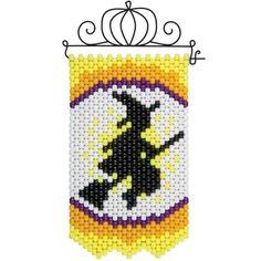Herrschners® Halloween Witch Silhouette Mini Banner & Hanger Beaded Banner…