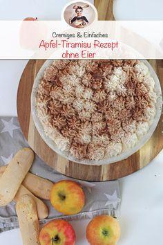 Apple Tiramisu Recipe – Without Eggs # spoon biscuit recipe Apple Tiramisu Recipe o … – Christina Nagel Tiramisu Recipe Without Eggs, Sweet Bakery, Biscuit Recipe, Apple Recipes, Easy Peasy, Parfait, Camembert Cheese, Delish, Oatmeal