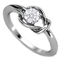 I would absolutely love to have this in Rose Gold! (Love Knot Solitaire Diamond Engagement Ring)