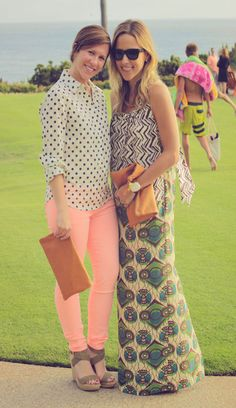 to wear: pink jeans with polka dot top, and clare vivier (from Shop Pretty Mommy)