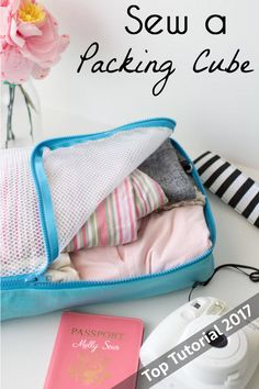 Top 5 Tutorials 2017 - Sew a Packing Cube - from Melly Sews