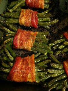 Testing Trendy....1, 2, 3: Bacon Wrapped Green Beans