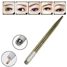 Pinkiou Microblading tattoo machine for permanent makeup eyebrow tattoo manual pen with needle blade >>> Check out the image by visiting the link. (This is an affiliate link) #Makeup