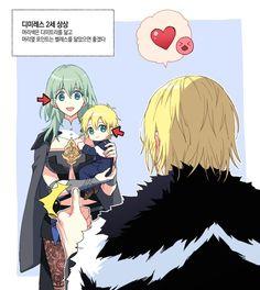 Omg Dimitri and Byleth's child is so adorable 😍 Fire Emblem Awakening, Fanarts Anime, Anime Manga, Fire Emblem Games, Familia Anime, Fire Emblem Characters, Blue Lion, Pokemon, Animation