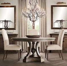 How To Select Large Round Dining Table: Expanding Round Dining ...