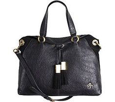 NEW orYANY Leather Lian Satchel w/ Convertible Strap Colorblock ...