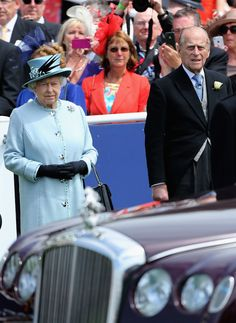The Queen and the Duke of Edinburgh at the Epsom Derby 1 Jun 2013