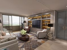 Apartment of 250m2 in Shanghai Pudong. Designed by TRIBEKA, Baptiste Bohu & Kostas Chatzigiannis