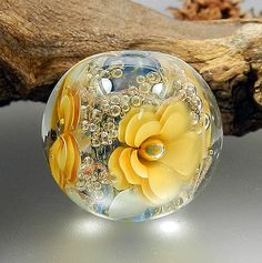 Hand Crafted Lamp Worked Glass Bead by Glassactcc on Etsy Exquisite!