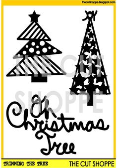 The Trimming the Tree cut file includes 3 by TheCutShoppe on Etsy