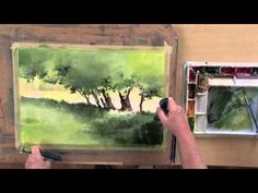 In this preview of Luminous Watercolor:  Spring Landscape with Sterling Edwards you will learn different ways to alter the values of your greens, to give it more contrast and interest, practice adding grassy shapes and working on edge control with your bristle brushes, and adding a suggested background with negative shape painting. Visit http://ArtistsNetwork.tv for access to the full-length version of this video.
