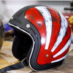Rock and Ride- Rising Sun Helmet - Custom Hand Painted -Philly PA