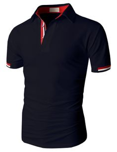 Doublju Fashion Pique Cotton Polo Shirts with Short Sleeve Cool Outfits, Casual Outfits, Men Casual, Golf Fashion, Mens Fashion, Le Polo, Men Street, Polo T Shirts, Swagg