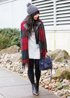 red plaid style #fashion