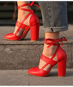 Sexy red lace up high heels fashion shoes sold by koko fashion. shop more products from koko fashion on storenvy, the home of independent small businesses Lace Up High Heels, High Heel Boots, Womens High Heels, Heeled Boots, Frauen In High Heels, Gladiator Heels, Red Lace, Your Shoes, Chunky Heels