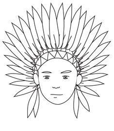 Free Printable Thanksgiving Indian Coloring Pages For Preschool # Preschool Coloring Pages, Flag Coloring Pages, Pattern Coloring Pages, Coloring Pages For Boys, Coloring Books, Native American Patterns, Native American Crafts, American Indian Art, Native American Indians