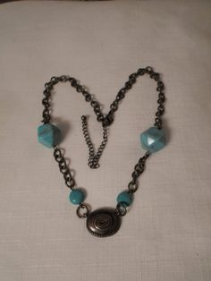SALE / TURQUOISE NECKLACE / Choker / Pendant / Marbled / Stone