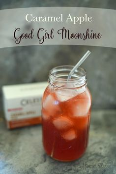 Caramel Apple Good Girl Moonshine. All the goodness of caramel and apple flavors make this GGM delightful and refreshing. Sugar-Free THM Sipper