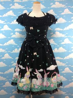Happy Garden OP in Black from Angelic Pretty - Lolita Desu
