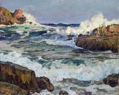 thusreluctant:  Clearing after September Gale, Maine Coast by Howard Russell Butler