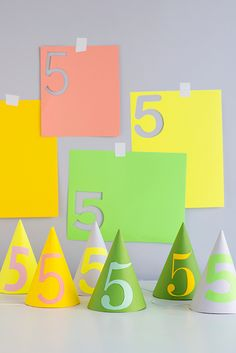 Number Party Hats DIY