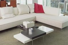 A sectional sofa often dominates the living area.