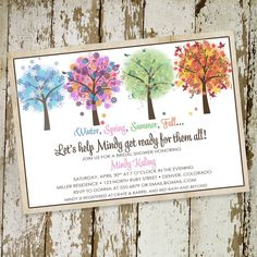 bridal shower invitations with four seasons by katiedidesigns, $13.00