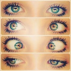 Don't know if these are colored contacts or if they are actually real lol