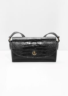 & Other Stories   Croco Embossed Small Leather Crossbody
