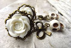 Corpse Bride 16mm 5/8'' plugs on Antique Brass by manakahandmade, £25.00