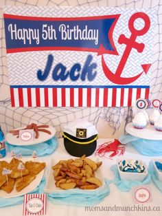 I am so excited to have another fun party article featured in Calgary's Child Magazine! Here is a special sneak peek of the adorable Sailor Birthday Party. Sailor Birthday, Sailor Party, Happy 5th Birthday, First Birthday Parties, Birthday Ideas, I Party, Party Time, Party Ideas, Diy Party Crafts