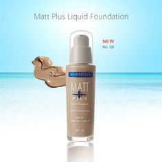 Seventeen Matt Plus Liquid Foundation Eye Makeup Tips, Liquid Foundation, Combination Skin, Oily Skin, Seventeen, Shampoo, Personal Care, Cosmetics, Bottle