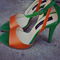 #rosettishowroom #the5thelementstore #springsummer #sandals #highheels #green #orange