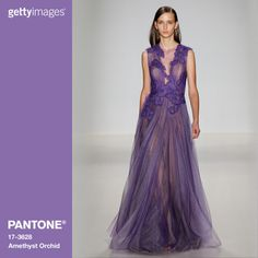 Amethyst Orchid is the jewel in the crown of the Fall 2015 palette. Intriguing, vibrant and somewhat sensual, this enigmatic shade is an extraordinary hue that is unique, bold, creative and exciting. Fashion by Getty Images