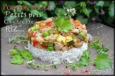 Porc au légumes printaniers, sauce au thym et coriandre  Un plat complet avec des légumes de saison...
