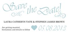 My design for save the date cards.