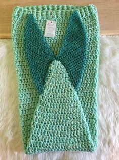 kids size mermaid tail blanket Kids Mermaid Blanket, Crochet Mermaid Blanket, Mermaid Kids, Mermaid Tails For Kids, Crochet Mermaid Tail, Mermaid Tail Blanket, Mermaid Blankets, Shark Tail Blanket, Crochet Mittens