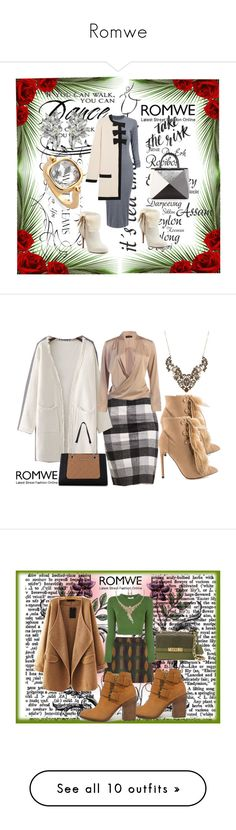 """""""Romwe"""" by dinka1-749 ❤ liked on Polyvore featuring WALL, Jennifer Lopez, Fendi, Boutique Moschino, Liliana, Nine West, Opening Ceremony, Steve Madden, Moschino and Wilsons Leather"""