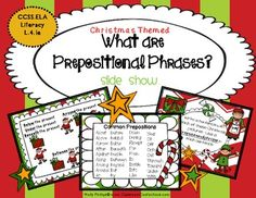 FREE Prepositional Phrases Lesson {Christmas Themed Activity}...don't miss this one!